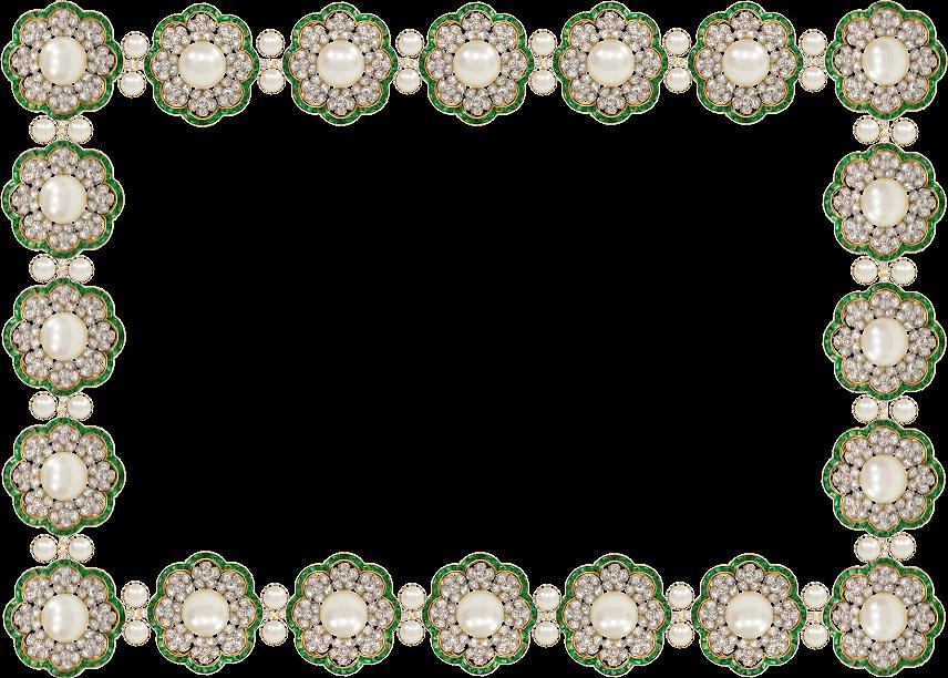 Emilieta psp: Marco joya Esmeraldas y diamantes en Formato PNG