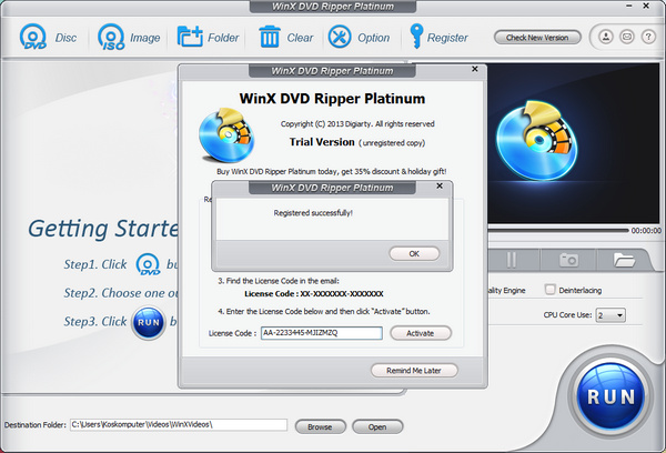 WinX DVD Ripper Platinum v7.0.0 Full Serial Key.