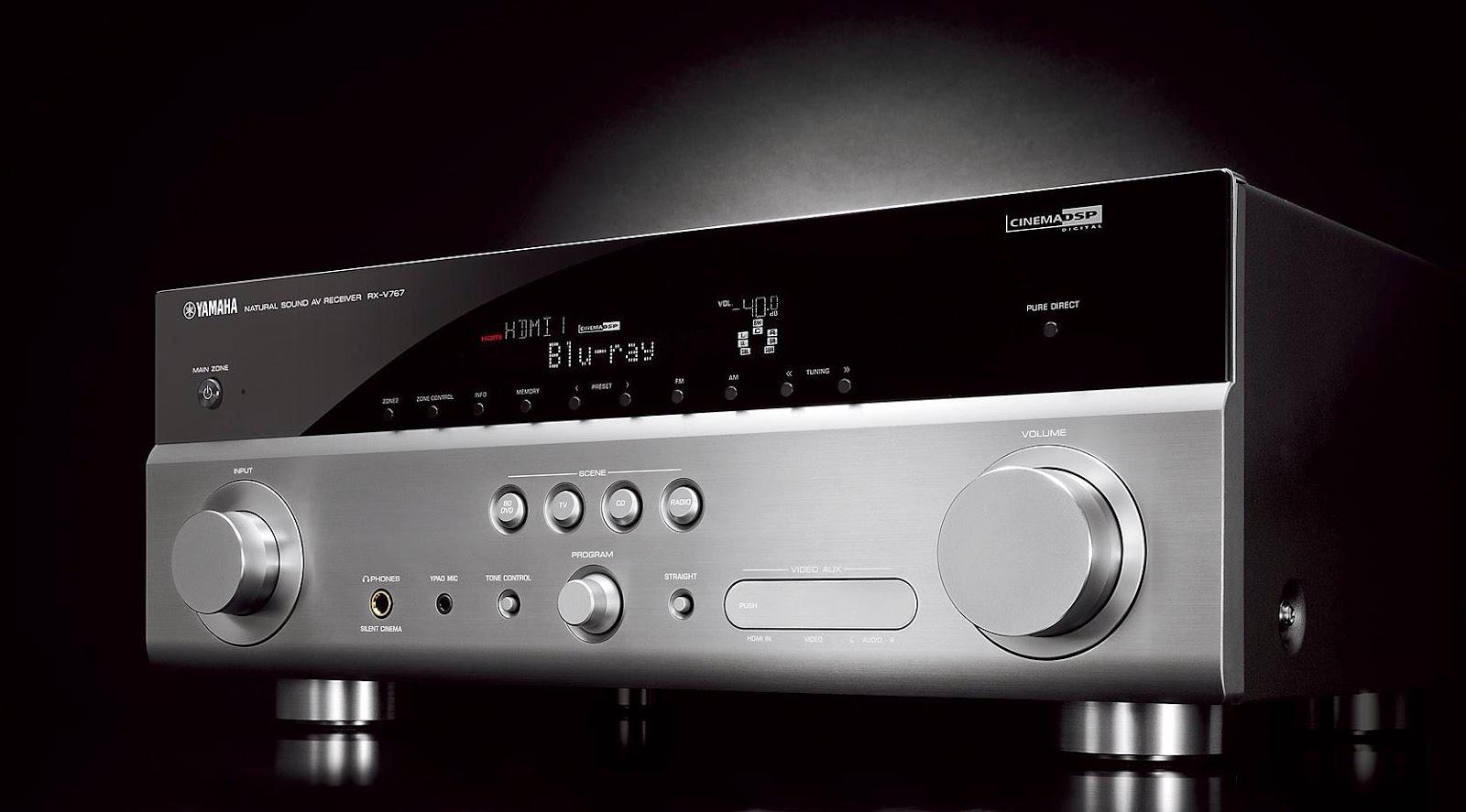 Yamaha rx v767 av receiver audiobaza for Yamaha rx v767