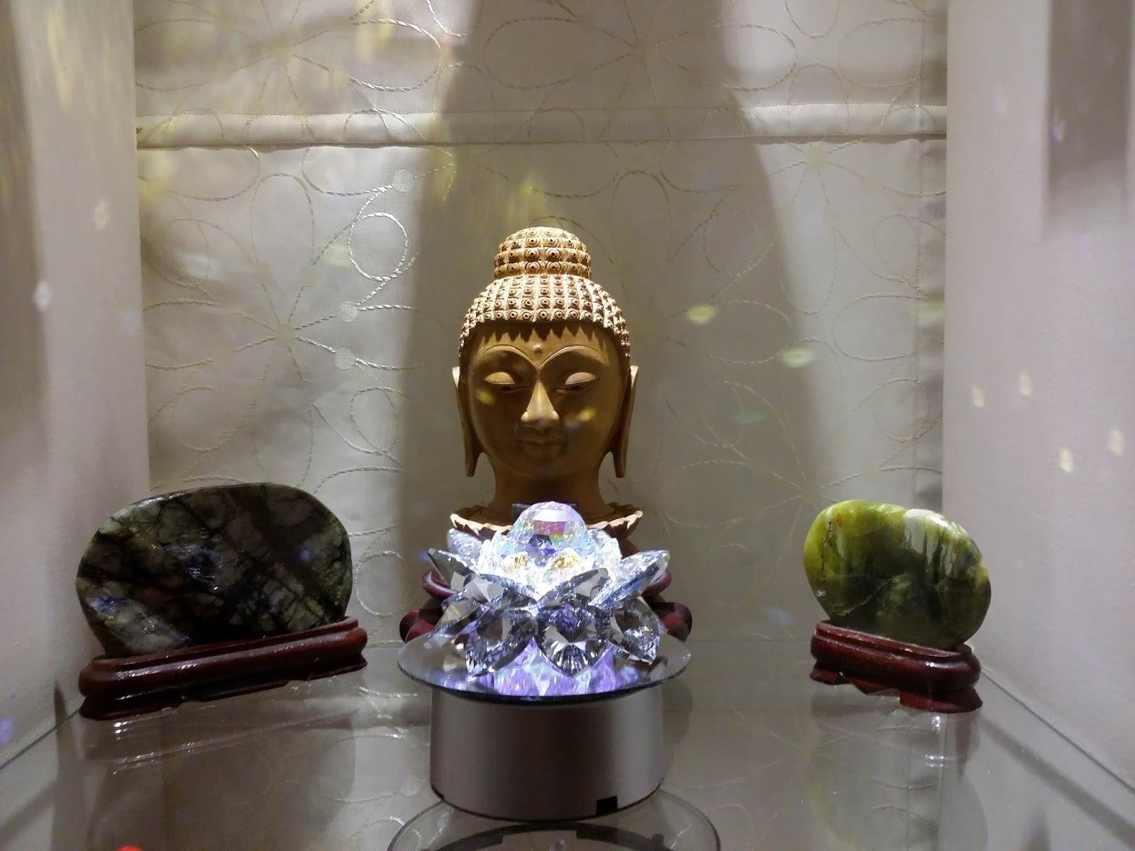 Sacred Crystal Lotus Sacred Crystal Lotus Flower With Buddha Display
