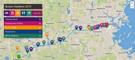Maps Mania The Live Boston Marathon Map