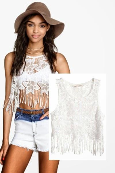 Top de franjas H&M - tendencia primavera verão 2015