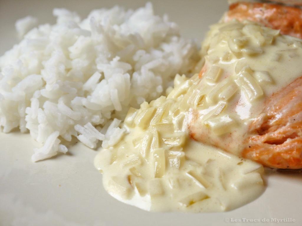 Voir la recette : pavés de saumon sauce citronnée