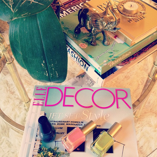 nail polish and magazines