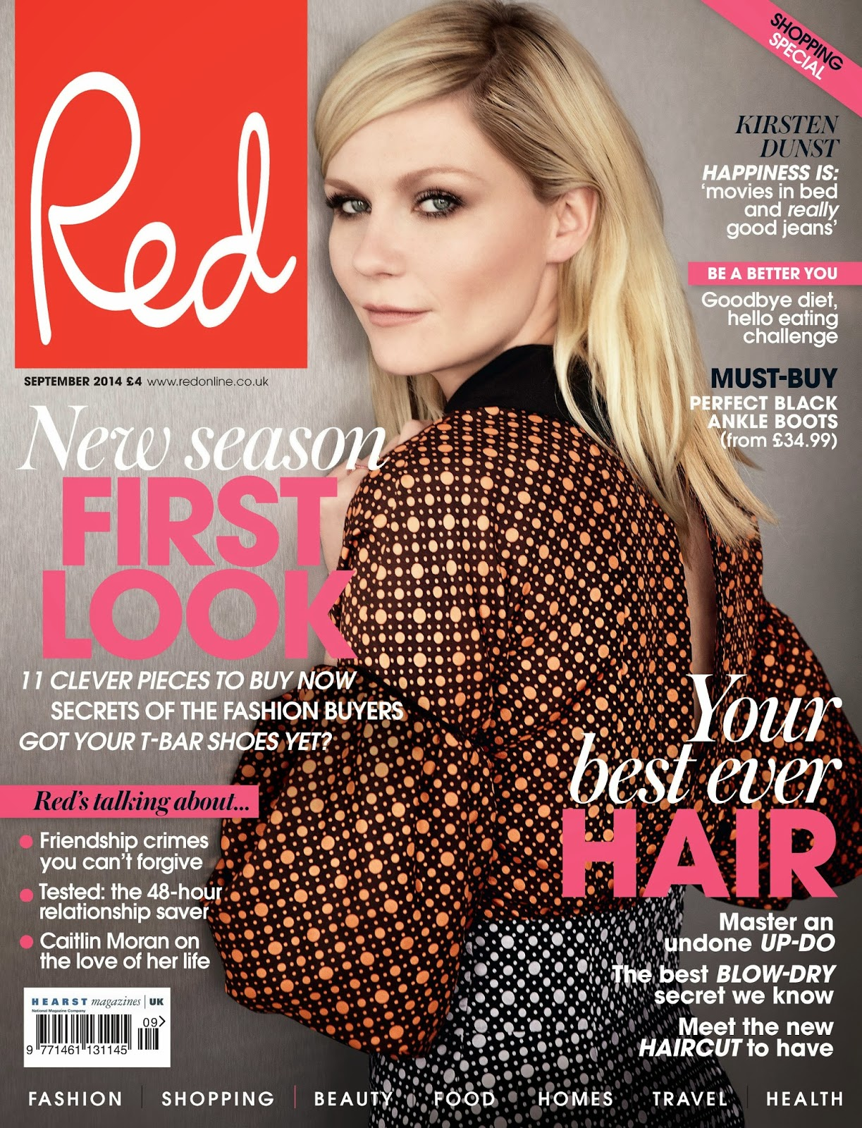 Kirsten Dunst - Red Magazine, UK, September 2014