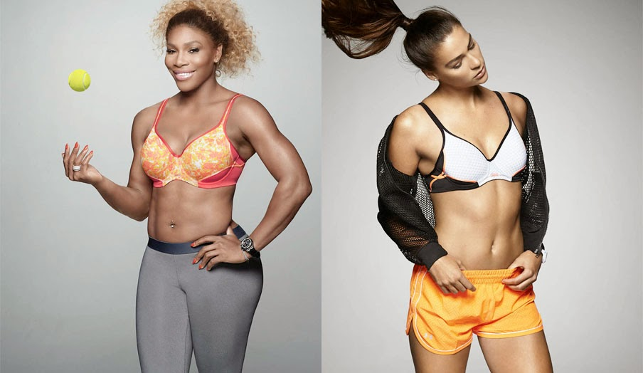Serena Williams for Berlei at Myer Bourke St Mall australian open rod laver arena USA tennis support sports bra