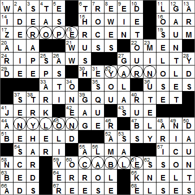 fragrant wood crossword 2