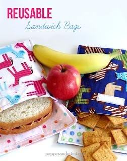 Reusable Fabric Sandwich Bag Tutorial | popperandmimi.com