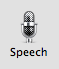 """Click the """"Speech"""" System Preferences panel button"""