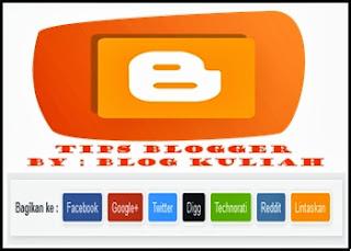 Cara Mudah Pasang Tombol Share Button di Blog