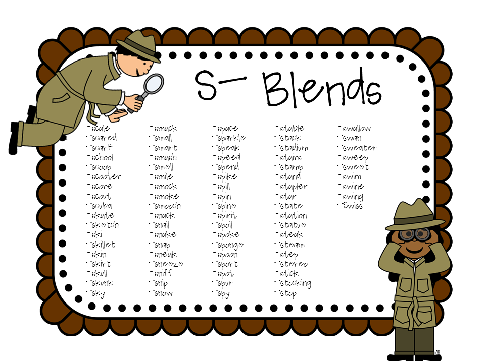 Sleuth-y S-Blends: Articulation Packet for Speech Therapy ...