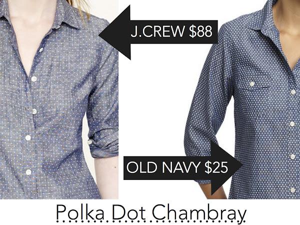 Crave or Save: Polka Dot Chambray