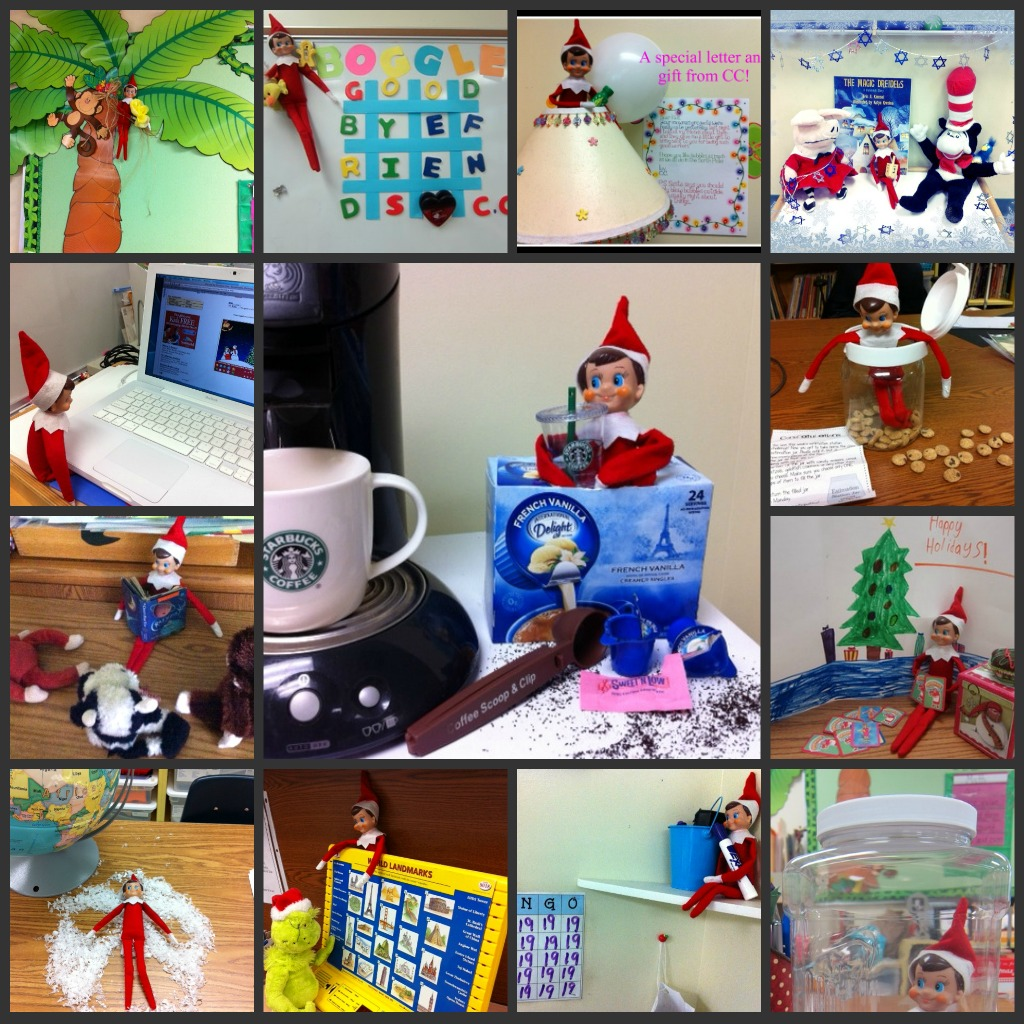 Classroom Elf Ideas ~ December sunny days in second grade