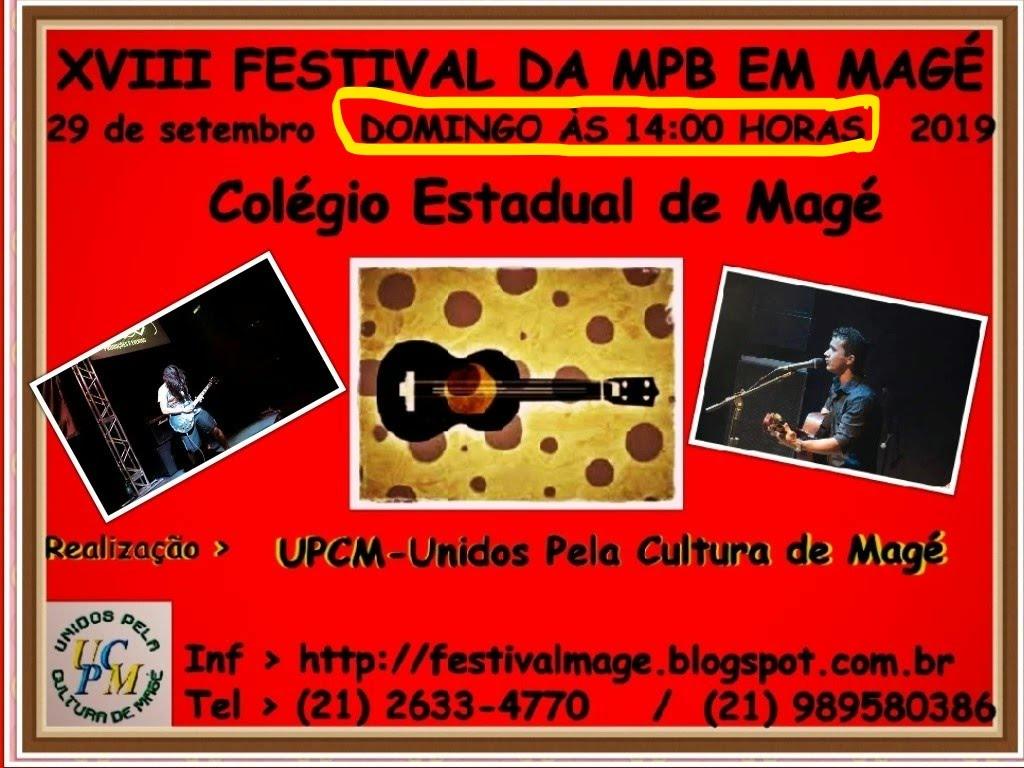 XVIII FESTIVAL DA MPB EM MAGÉ
