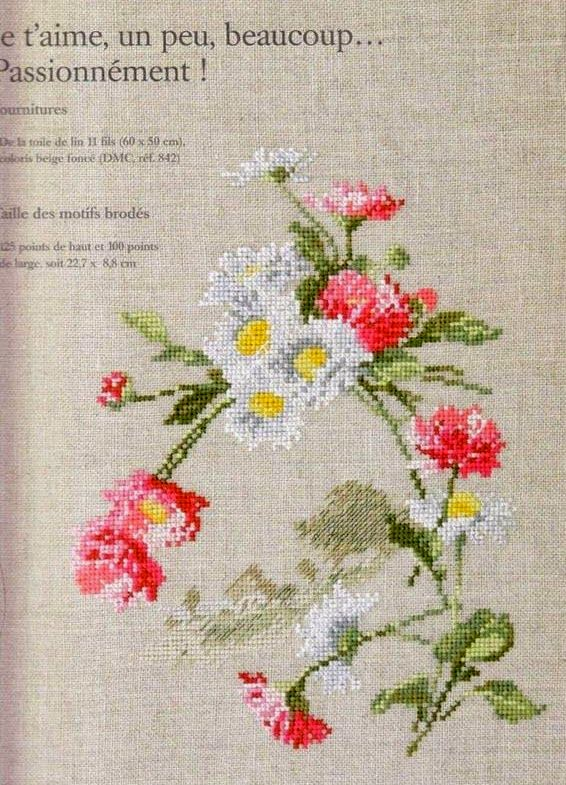 """Вышивка крестом: """"Нежные цветы"""