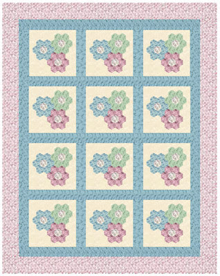 Downton Abbey Blossoms Quilt Design