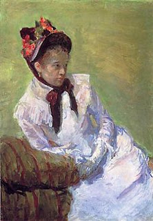 Self portrait by Mary Cassatt. Detailed description follows in caption.