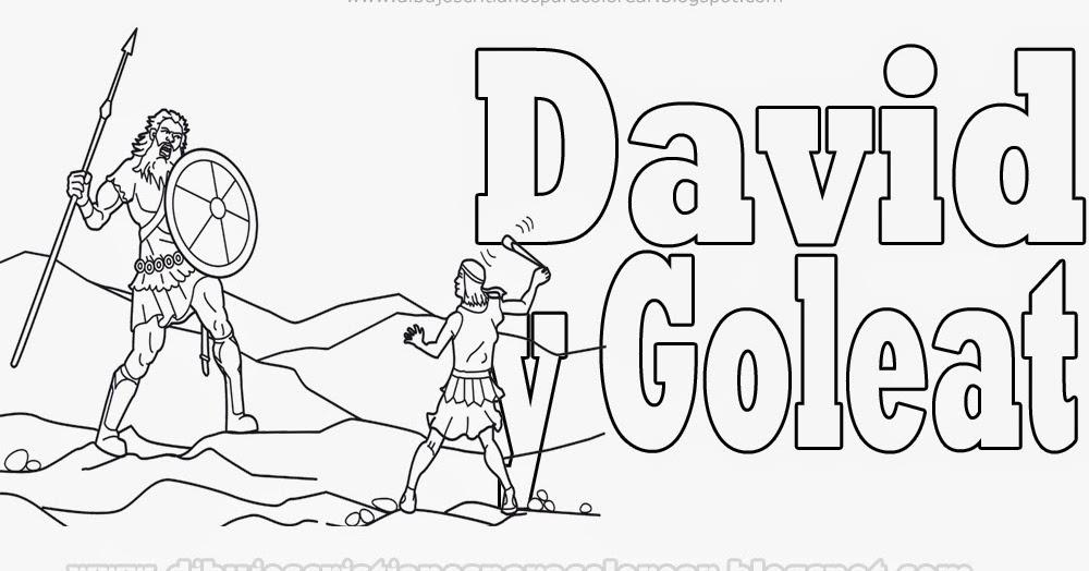 David y Goliat para colorear Dibujos Cristianos ~ Dibujos Cristianos ...
