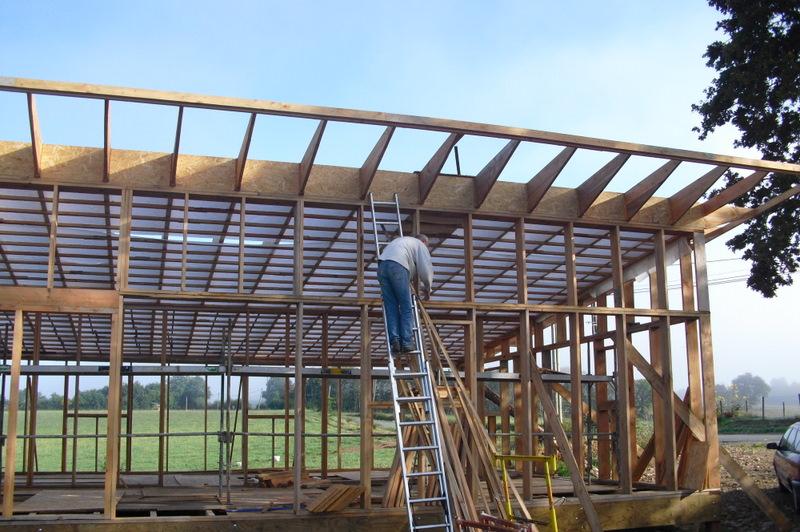 Notre maison la catiche isolation du toit copeaux de bois - Isolation copeaux de bois chaux ...