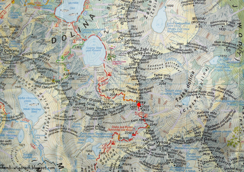 Rysy - mapa