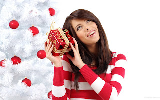 Beautiful Girl Christmas HD Wallpaper