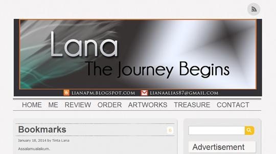 Blog Lana, Blog Lana The Journey Begins, Blog Template