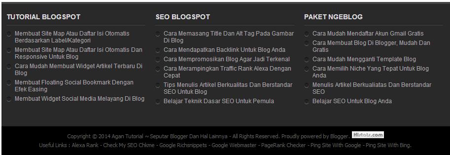 Tutorial - SEO - Paket Ngeblog