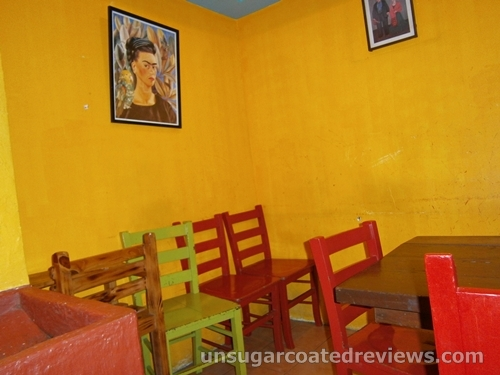 walls and colorful chairs at Mexicali in Robinson's Place Ermita Manila