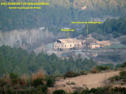 Zoom a l'enclavament de Malagarriga des de l'Obaga de Malagarriga