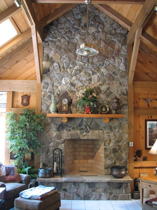 home and garden: Stone Fireplace Designs and Decorating Ideas