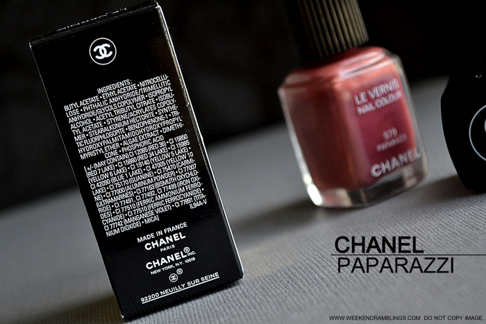 Chanel Nail Polish Paparazzi 579 Avant Premiere Makeup Collection Photos Swatches NOTD Review Ingredients Indian Beauty Blog