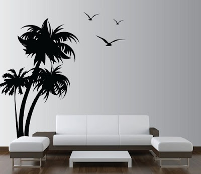 leaf wall decor in living room