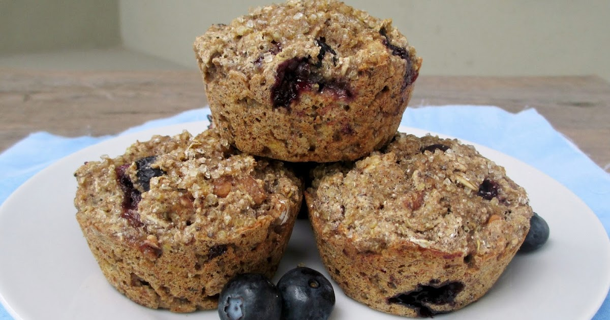 Blueberry Breakfast Muffins with Quinoa