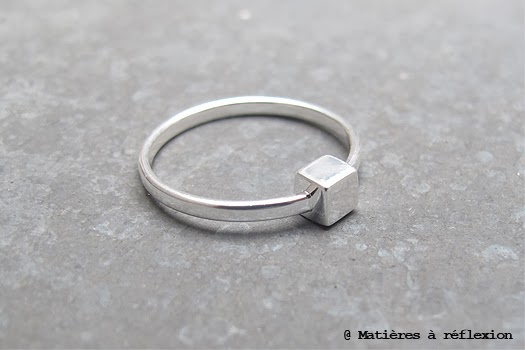 bague one cube argenté louise hendricks