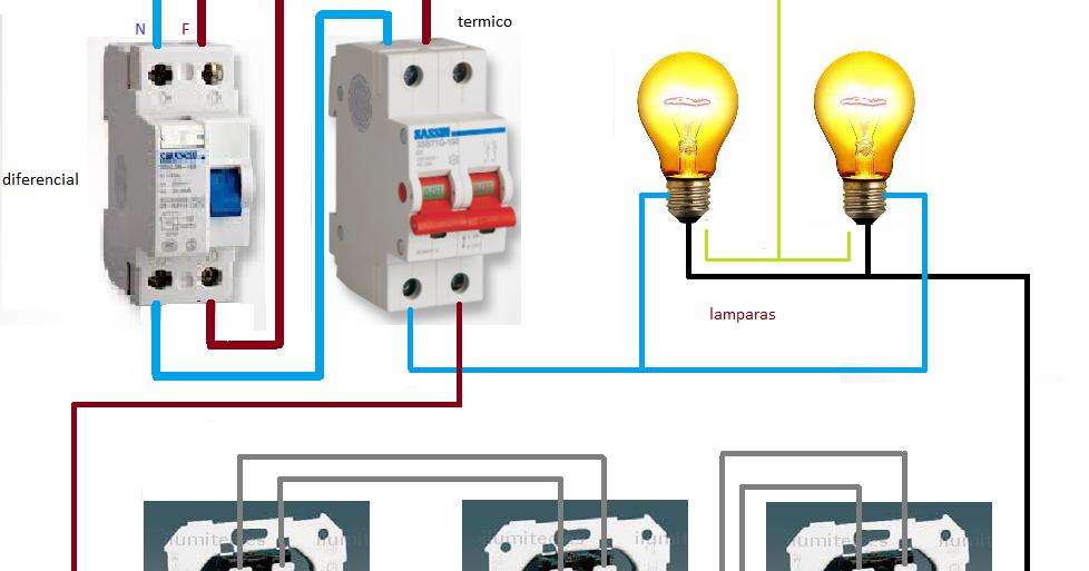 Extractor De Baño Sica:conmutada con cruzamiento encendido luces desde tres sitios ~ Esquemas