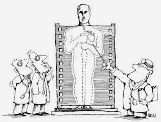 Médicos radiografiando a la figura de un premio óscar