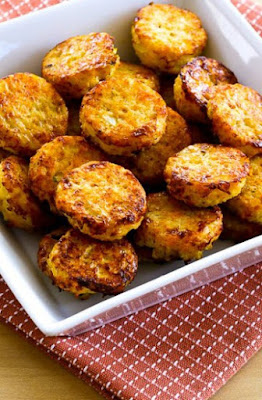 Low-Carb Cheesy Baked Cauliflower Tots [found on KalynsKitchen.com]