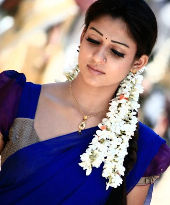 nayantara in half saree hot images