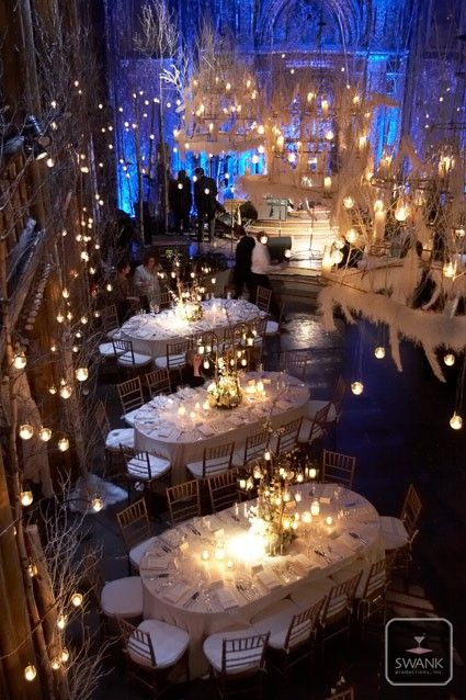 iluminación de invierno bodas