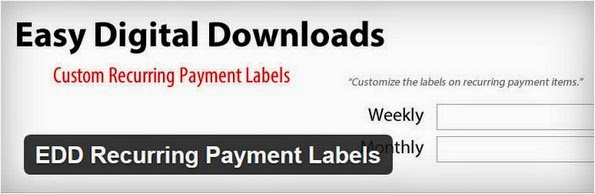 EDD recurring labels plugin