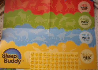 SleepBuddy Reward Sticker Chart