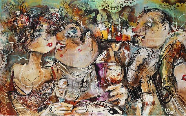 jack russell schilderij