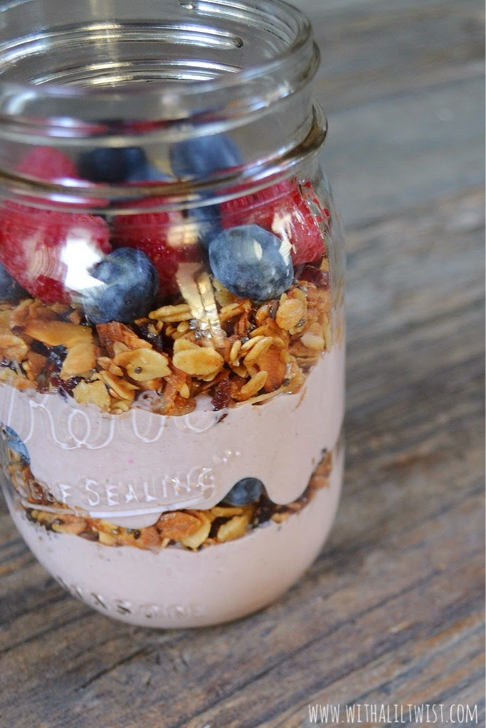 with a lil' twist: Acai Greek Yogurt Parfait