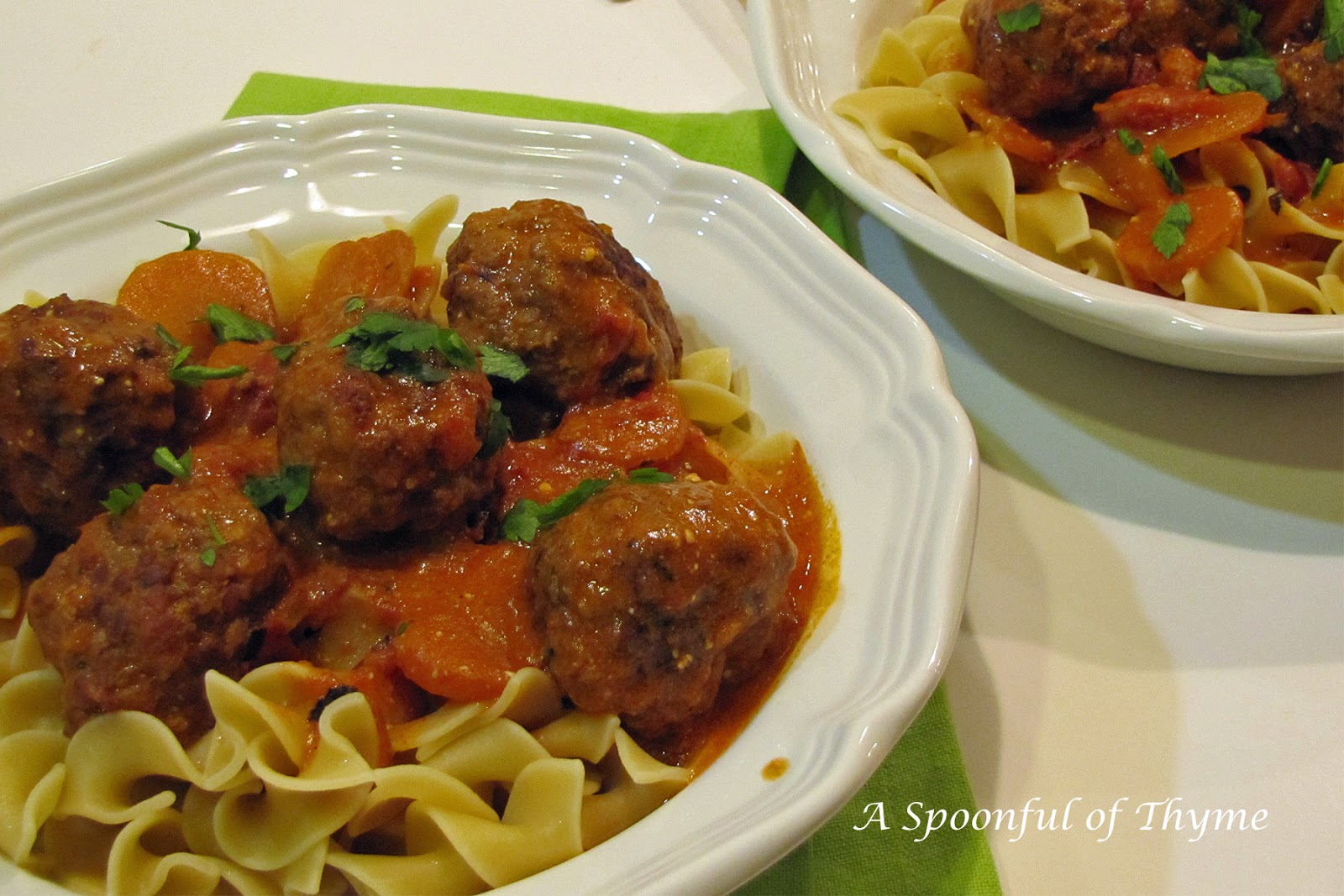 Hungarian Meatballs with Noodles