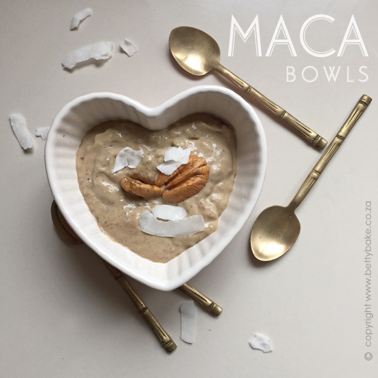 maca, maca bowls, betty bake, dessert, superfood, balancing, easy, recipe, breakfast