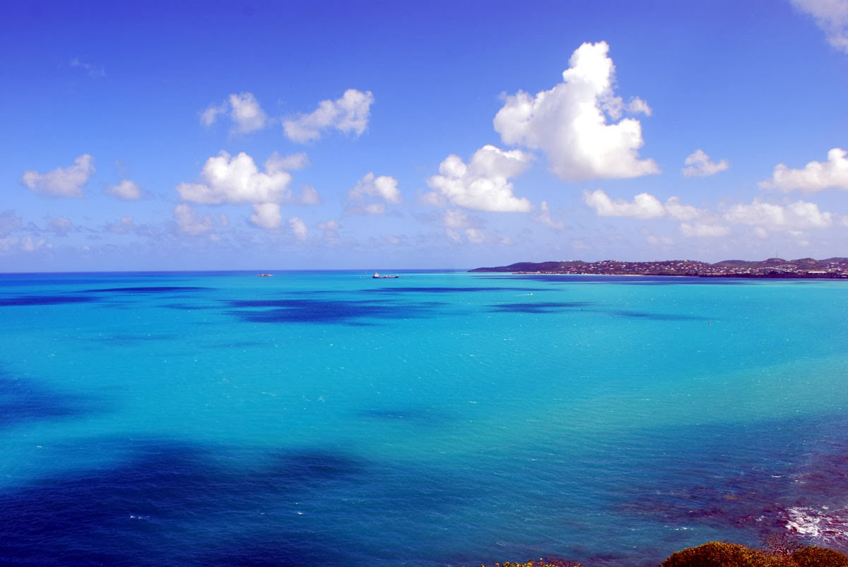 Antigua harbor turquoise water