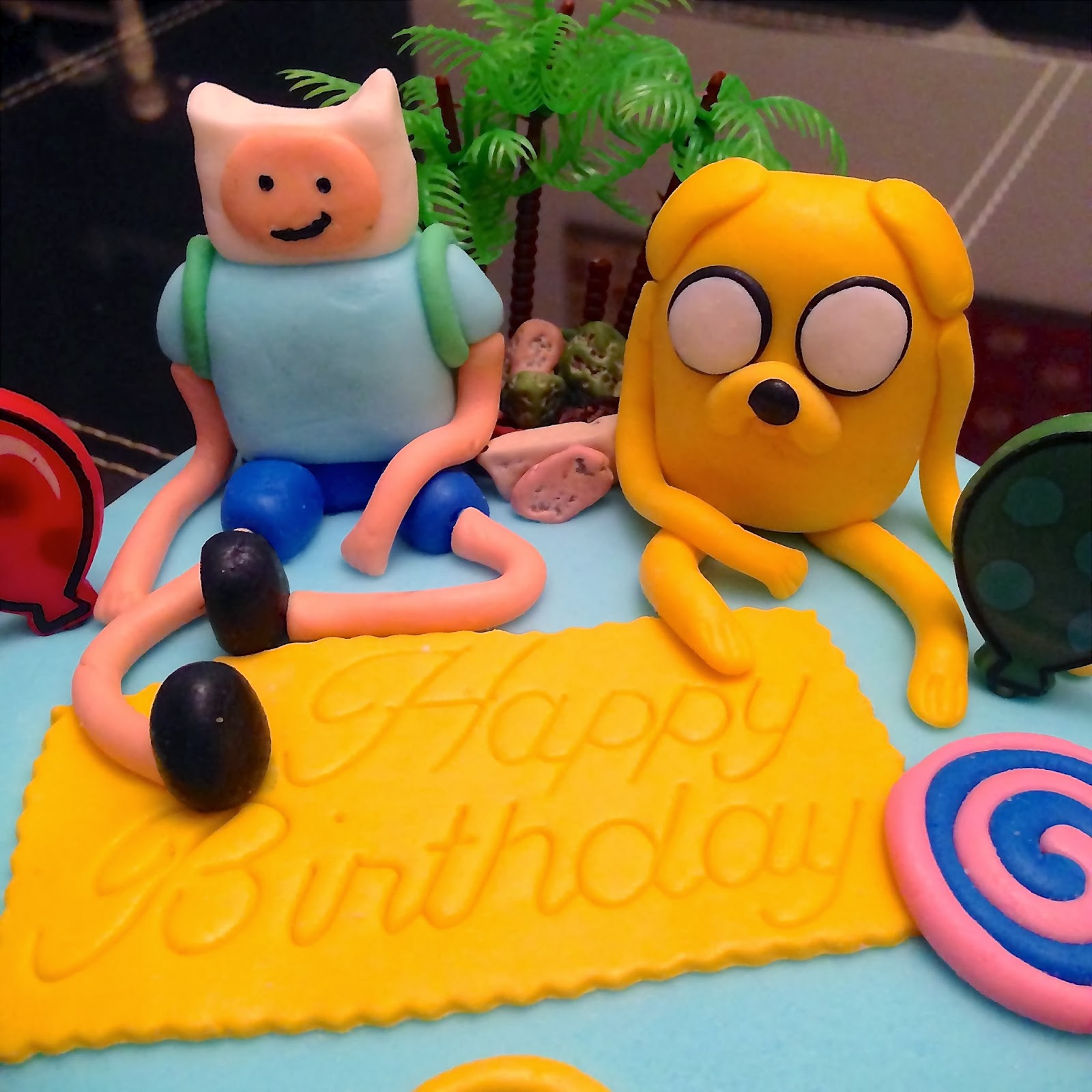 Cartoon Character Birthday Cake
