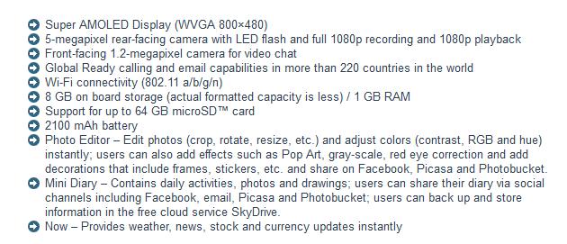 Samsung ATIV Odyssey specs