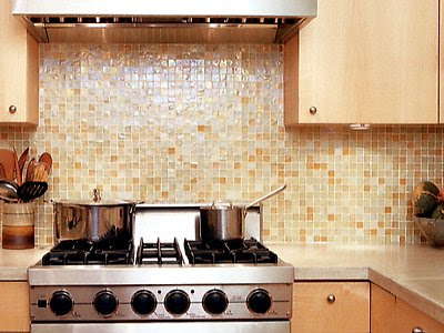 Recycled Glass Backsplash Images