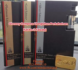 Giveaway, Giveaway Faizalpj.com Sempena Ulangtahun Perkahwinan, Perempuan tak minat emas, www.faizalpj.com, review blogger, komen dan cadang blog blogger